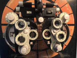 The phoropter is a tool that allows eye doctors to determine your glasses prescription